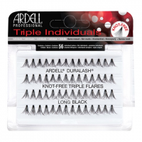 ARDELL Triple Individuals zestaw 56 kępek rzęs Long Black